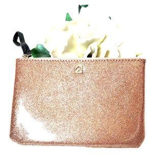 Kate Spade Rose Gold Glitter Wristlet